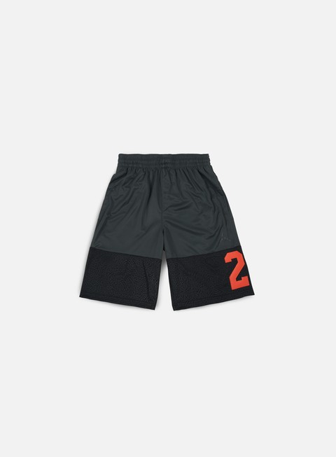 pantaloni jordan rise twentythree short anthracite black