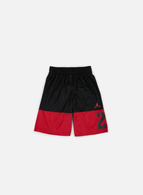 pantaloni jordan rise twentythree short black gym red
