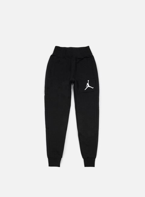 pantaloni jordan the varsity sweatpants black white