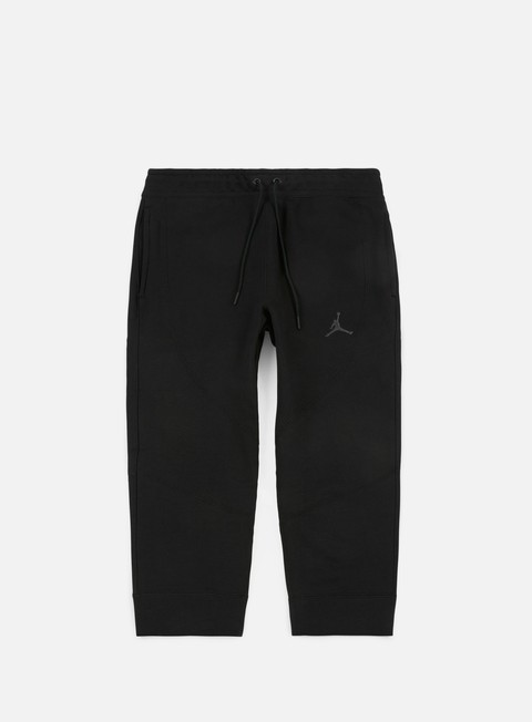 pantaloni jordan wings 3 4 fleece pant black anthracite
