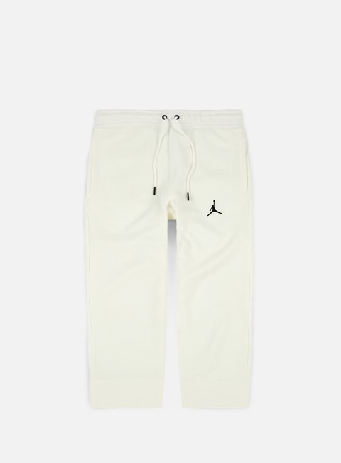 pantaloni jordan wings 3 4 fleece pant summit white black