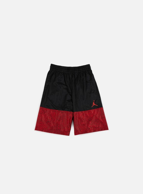 pantaloni jordan wings blackout short black gym red