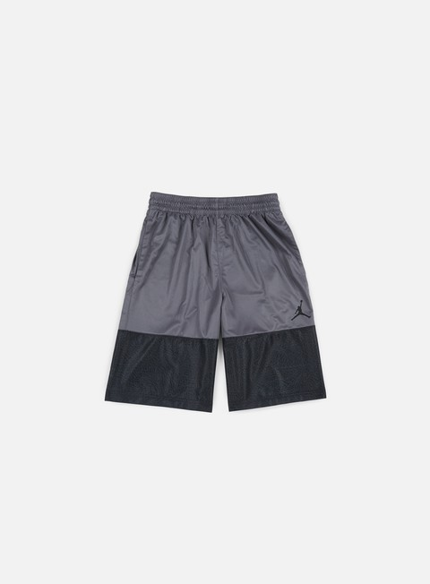 pantaloni jordan wings blackout short dark grey black