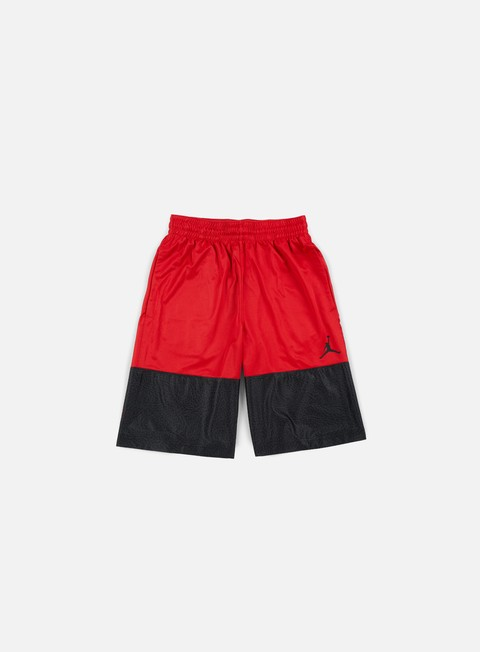 pantaloni jordan wings blackout short gym red black