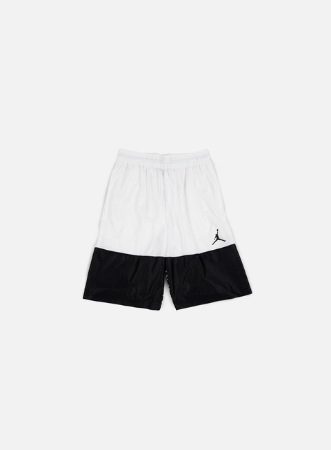 pantaloni jordan wings blackout short white black