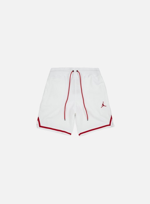 pantaloni jordan wings lite 1998 fleece short white gym red