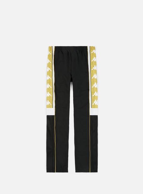 pantaloni kappa 222 banda 10 arpan pant black white gold