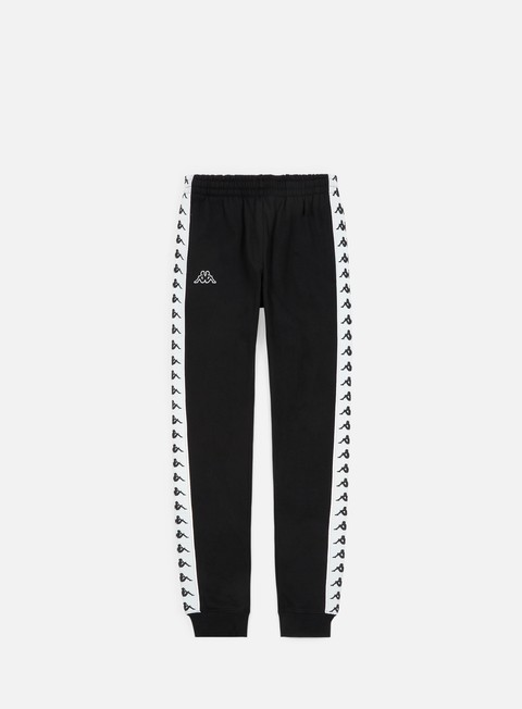 pantaloni kappa 222 banda agrif pant black white