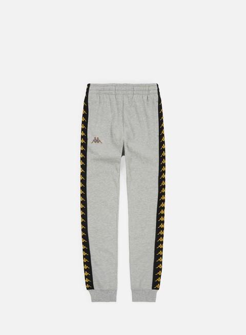 pantaloni kappa 222 banda agrif pant grey medium melange black gold