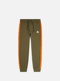 Kappa - 222 Banda Alanz Pant, Green Oliva/Orange