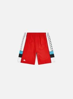 Kappa - 222 Banda Arawa Shorts, Red/White/Black/Turq