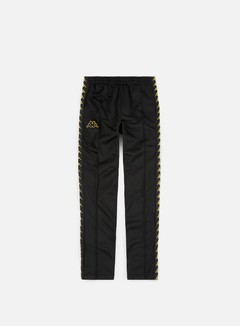 Kappa - 222 Banda Astoria Snap Slim Pant, Black/Gold