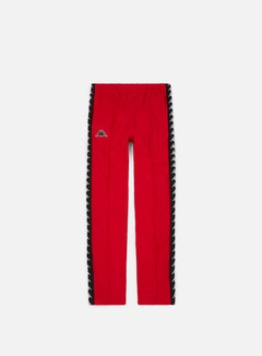 Kappa - 222 Banda Astoria Snap Slim Pant, Red/Black/White
