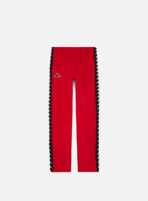 pantaloni kappa 222 banda astoria snap slim pant red black white