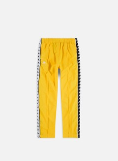 Kappa - 222 Banda Astoria Snap Slim Pant, Yellow/Black/White