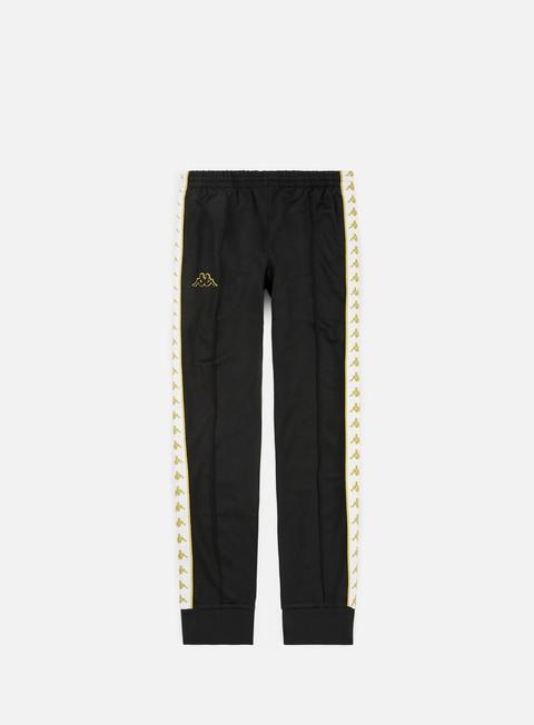 pantaloni kappa 222 banda rastoria slim pant black white gold
