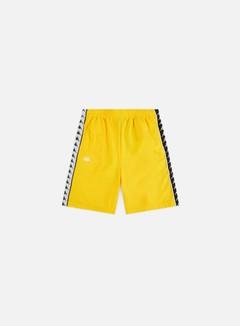 Kappa - 222 Banda Snapswell Shorts, Yellow/Black/White
