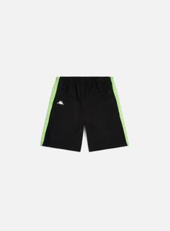Kappa - 222 Banda Treads Shorts, Black/Neon Green