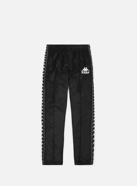 pantaloni kappa authentic anac track pants balck white