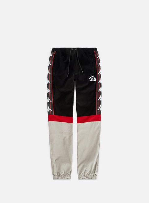 pantaloni kappa authentic serena pant black red dk grey