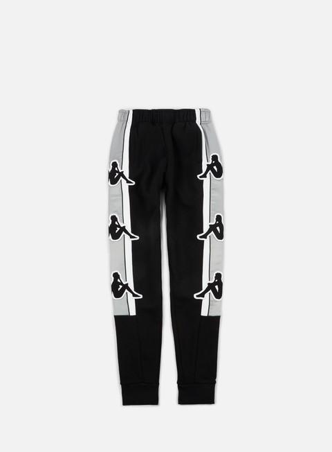 pantaloni kappa kontroll big omni pant black grey silver