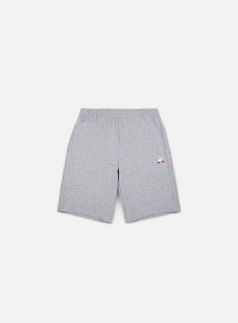 pantaloni le coq sportif ess regular n1 short gris chine clair