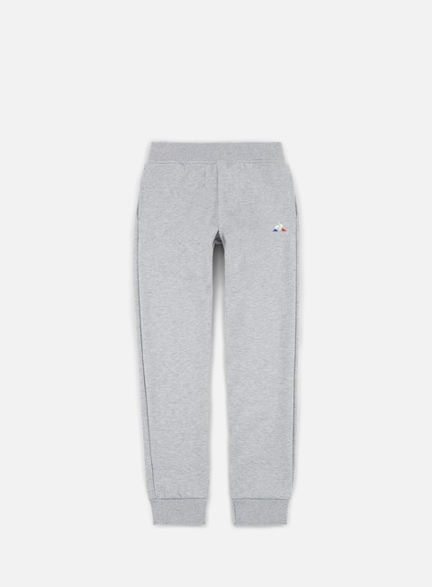 pantaloni le coq sportif essential n1 tapered pant light grey heather