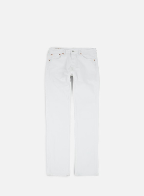 pantaloni levi s 501 original fit pant optic white