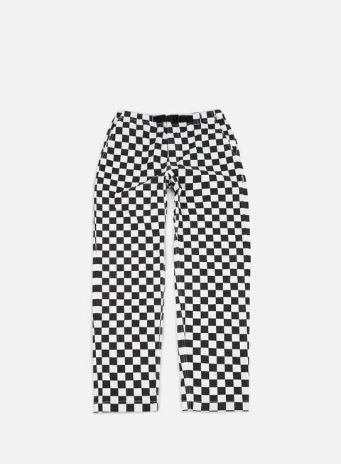 pantaloni life sux clip check pant white black