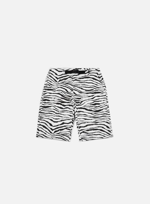 pantaloni life sux clip zebra short white black