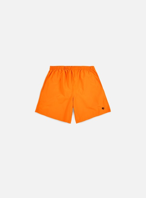 pantaloni magenta plant short orange