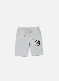 Majestic - Desta Fleece Short NY Yankees, Heather Grey