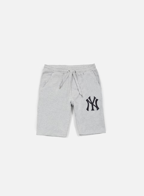 pantaloni majestic desta fleece short ny yankees heather grey