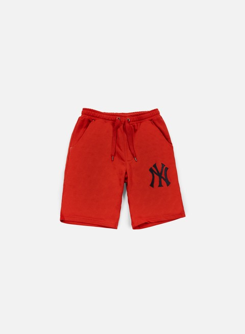 pantaloni majestic desta fleece short ny yankees red