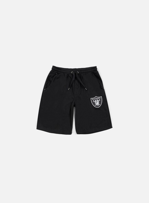 pantaloni majestic desta fleece short oakland raiders black