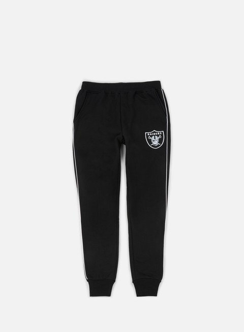 pantaloni majestic fleece piping jogger pant oakland raiders black