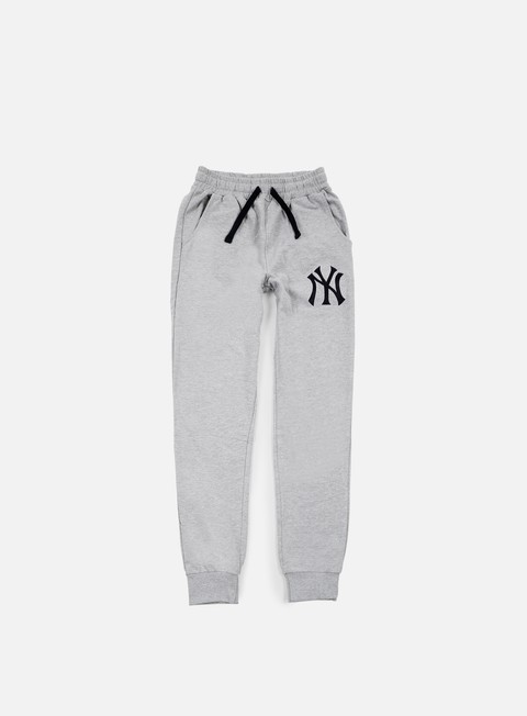 pantaloni majestic garten cuffed hem jogger ny yankees heather grey
