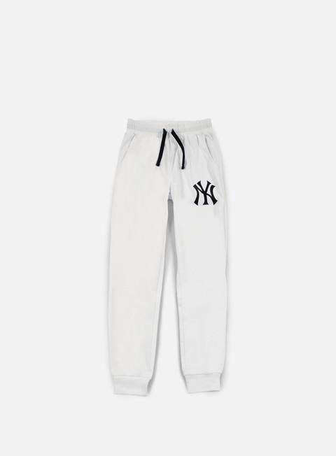 pantaloni majestic garten cuffed hem jogger ny yankees white