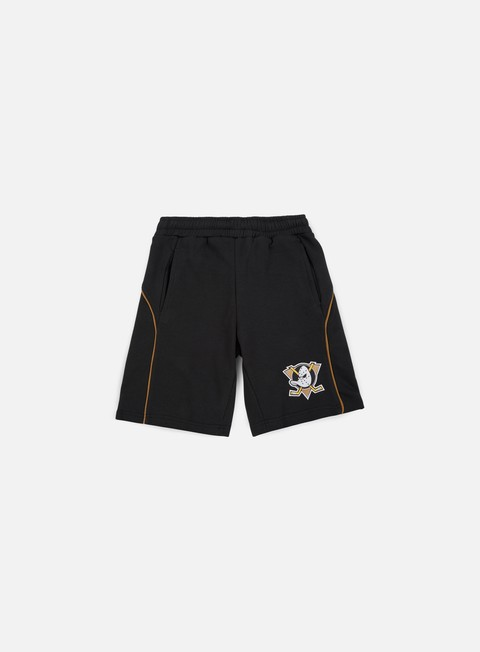pantaloni majestic maki fleece short anhaeim ducks black