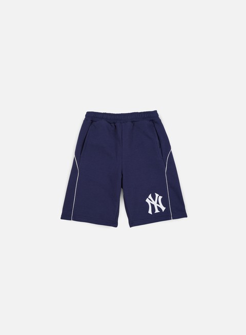 pantaloni majestic maki fleece short ny yankees navy