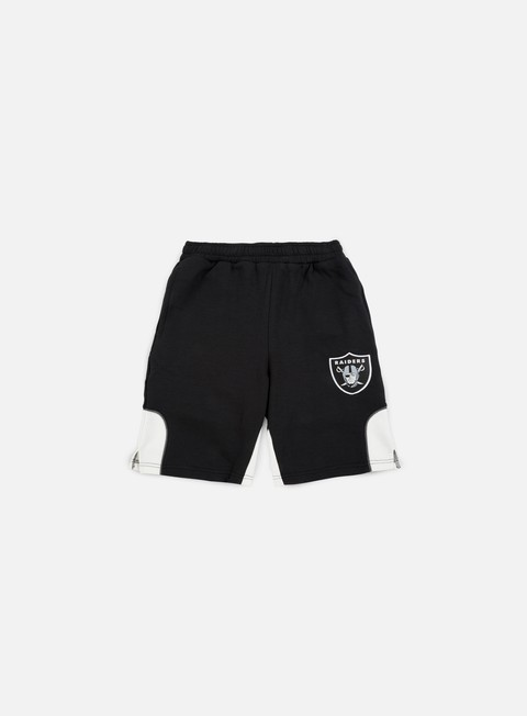 pantaloni majestic otabe fleece short oakland raiders black
