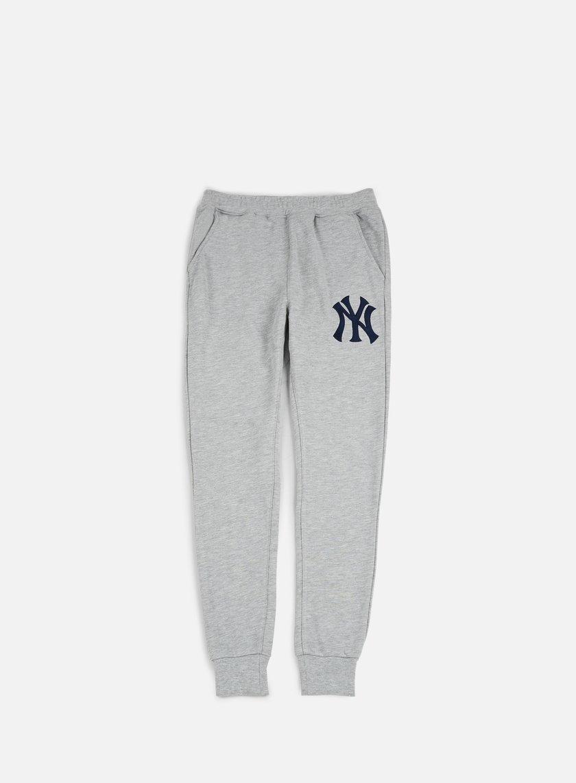 Majestic - Platt Loopback Jogger Pant NY Yankees Heather Grey - MNY-2701-E2 Bottoms Sweatpants