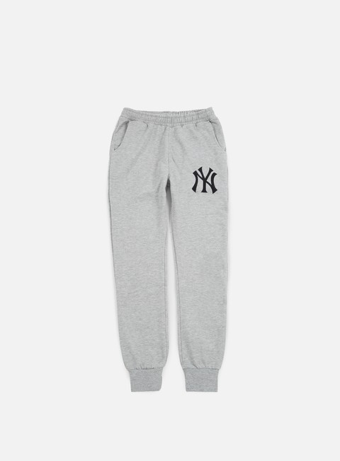 pantaloni majestic renod basic slim jogger ny yankees heather grey