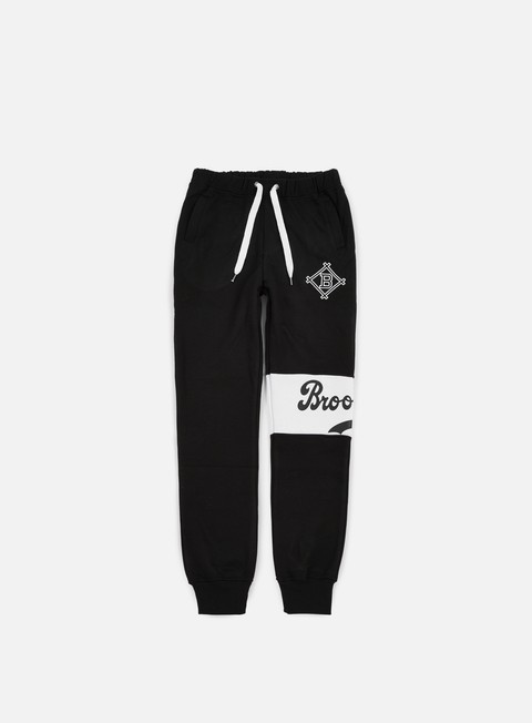 pantaloni majestic tilted fashion wrap font jogger brooklyn dodgers black