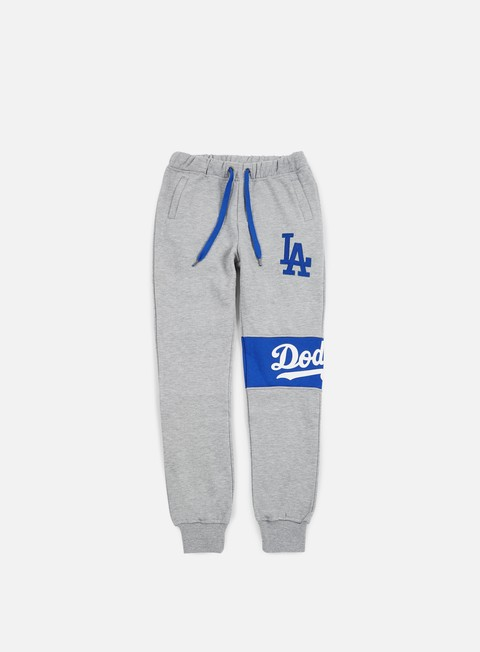 pantaloni majestic tilted fashion wrap font jogger la dodgers heather grey