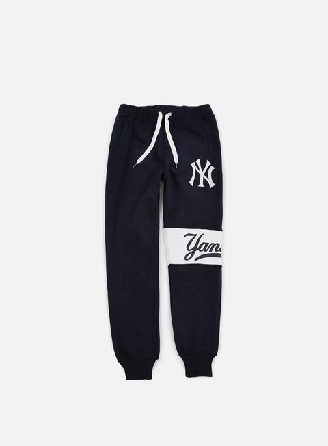 Pantaloni Jogger Majestic Tilted Fashion Wrap Font Jogger NY Yankees