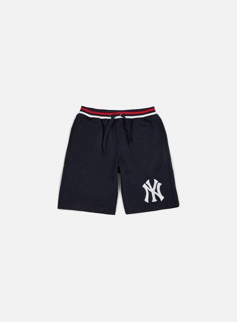 pantaloni majestic wrest tipped loopback short ny yankees navy