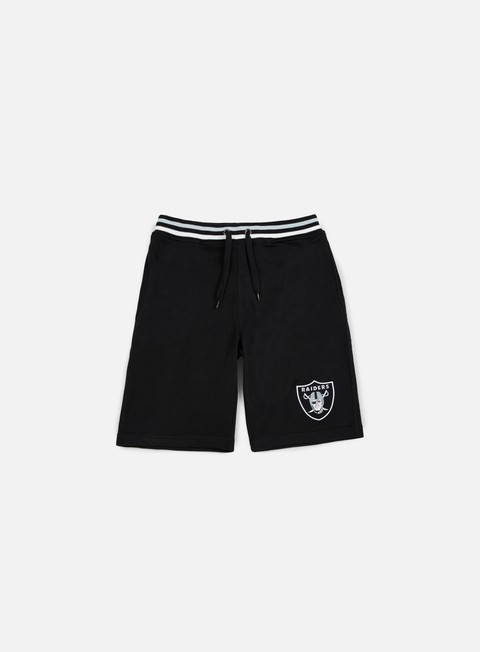 pantaloni majestic wrest tipped loopback short oakland raiders black