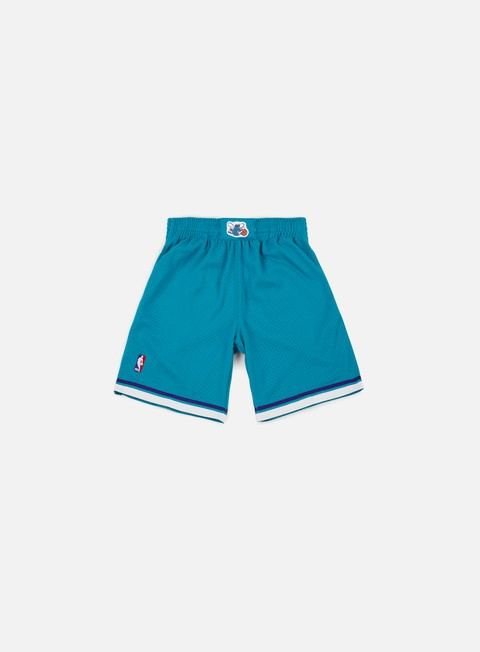pantaloni mitchell e ness swingman shorts charlotte hornets teal