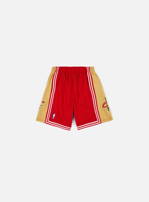 pantaloni mitchell e ness swingman shorts cleveland cavaliers red gold